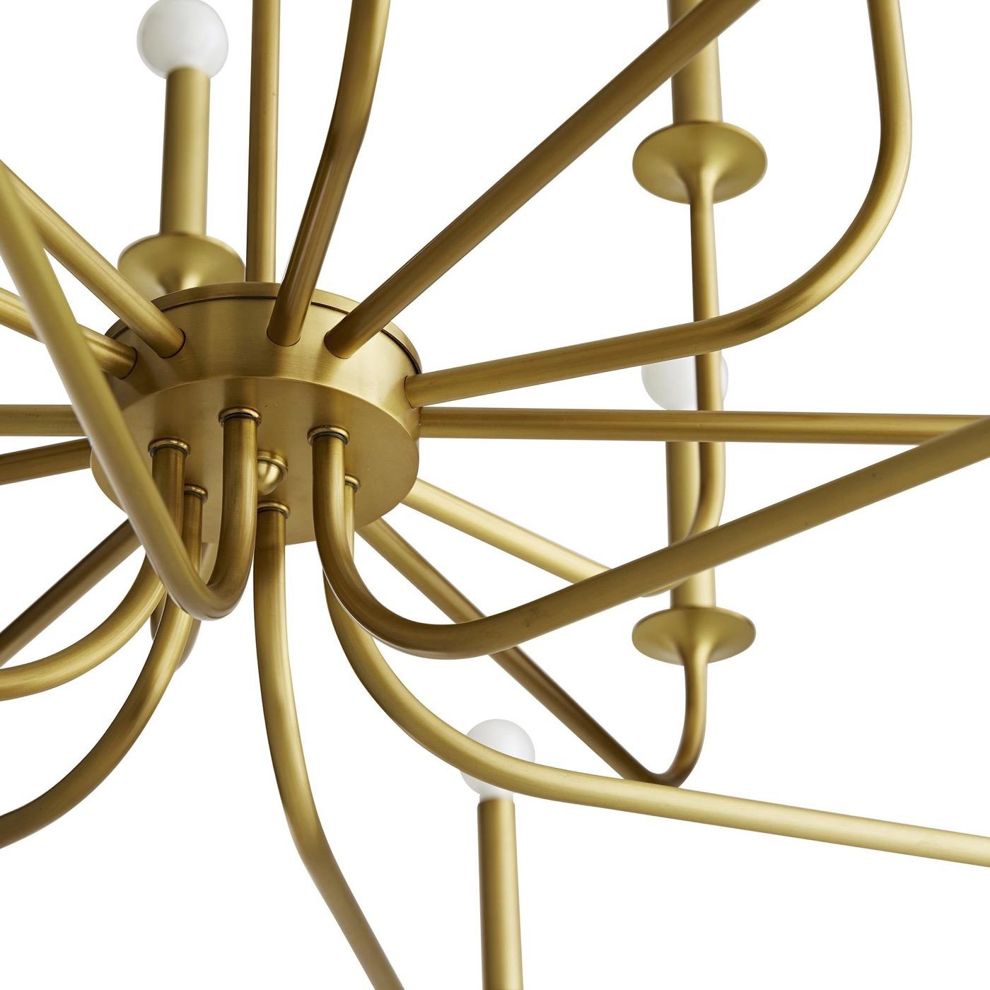 Maven Grand Chandelier   Brass