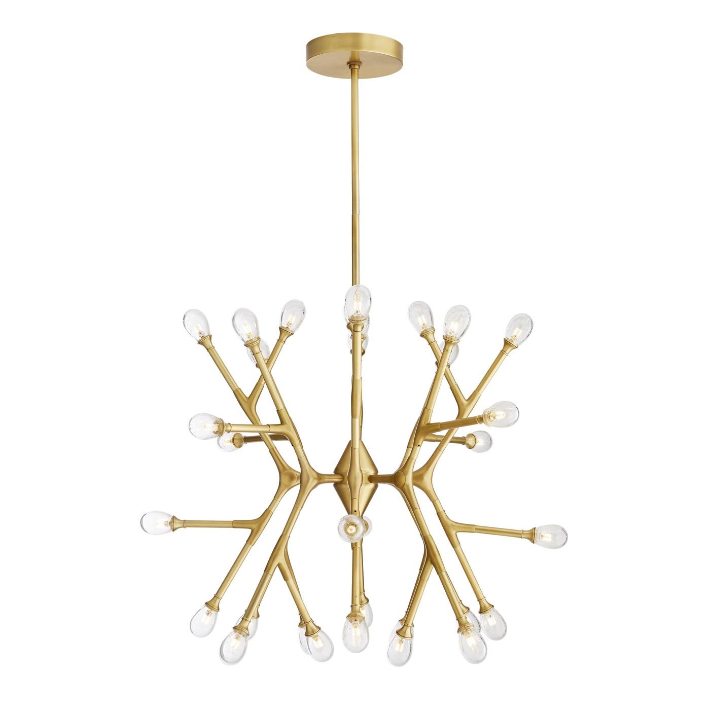 Boltman Brass Chandelier | Cluster