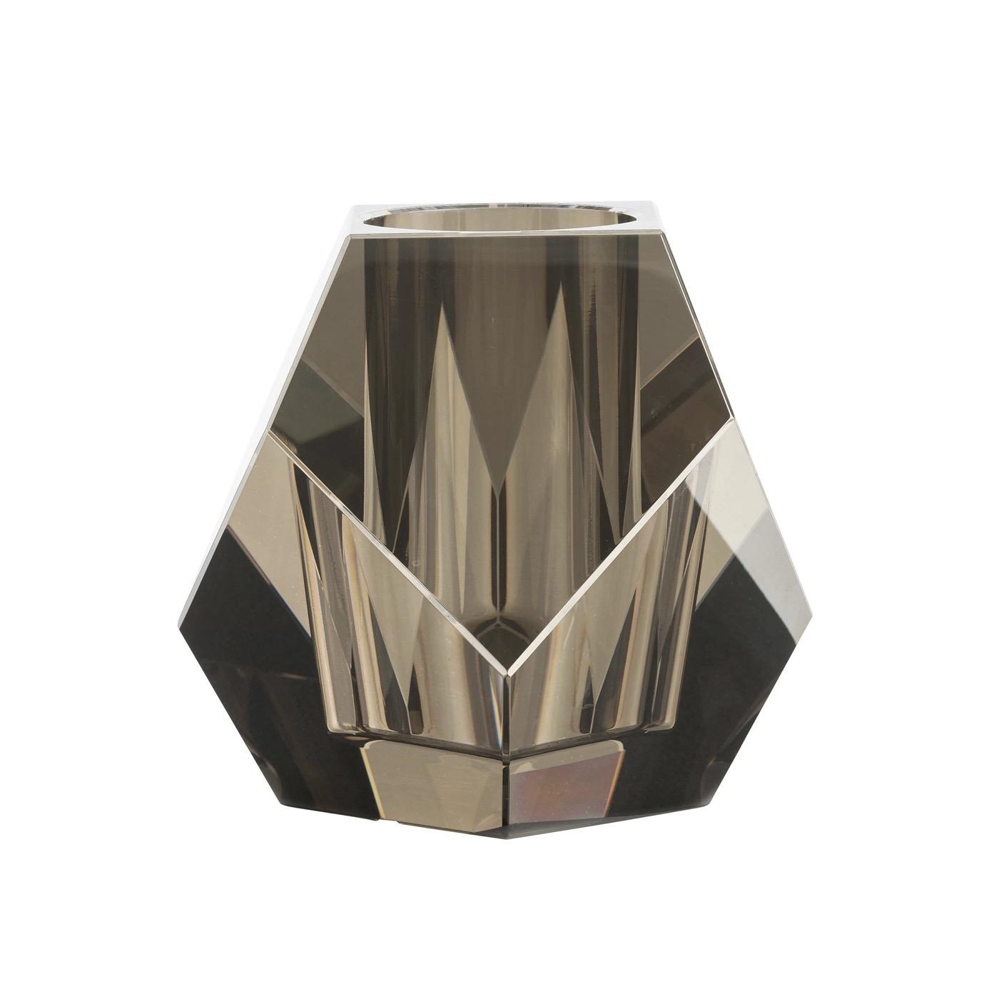 Carat Crystal Bud Vase | Grey