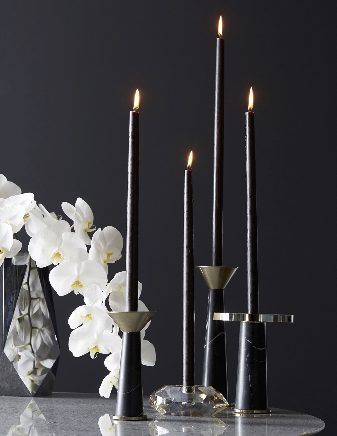 Tristan Marble Candleholders Set