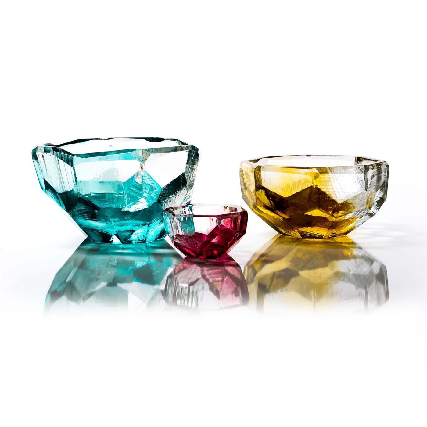 Lingo Glass Bowls   Red