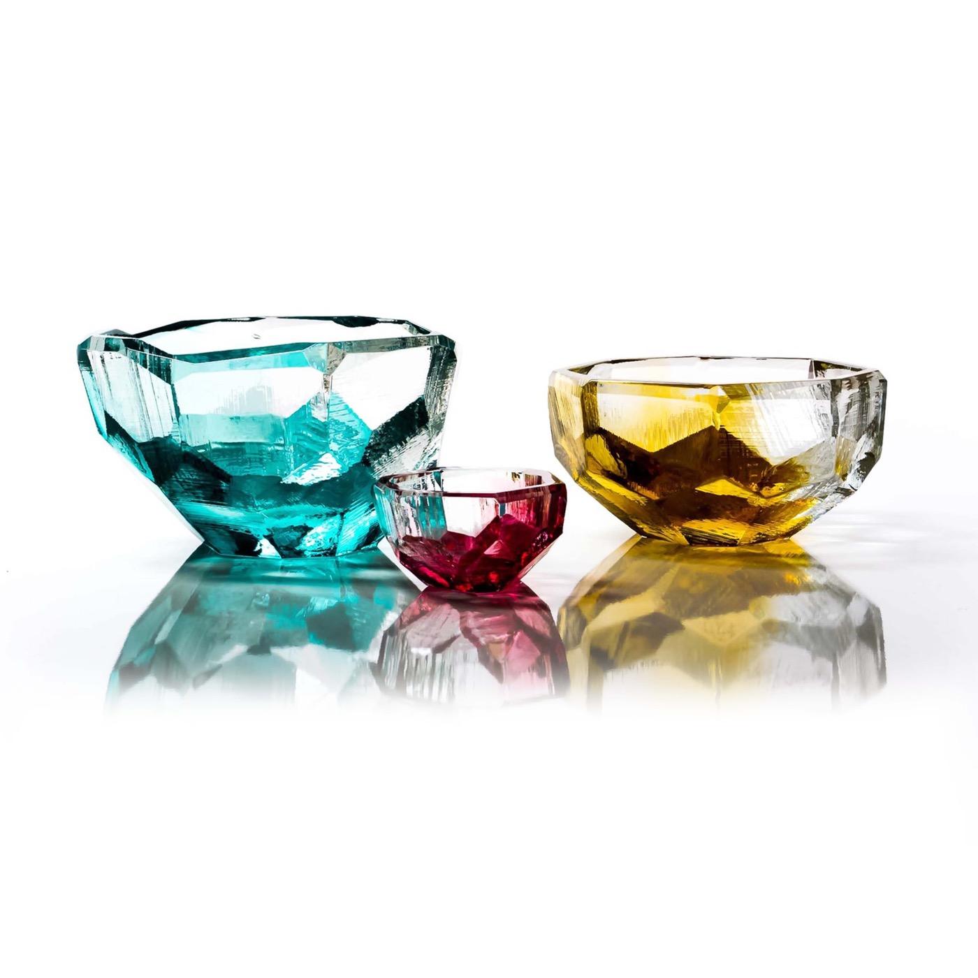 Lingo Glass Bowls   Teal