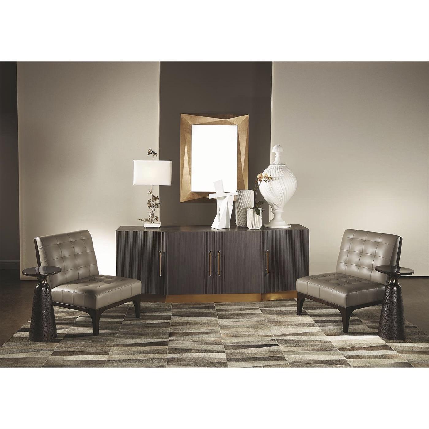 Quarry Bronze Side Table | Pedestal