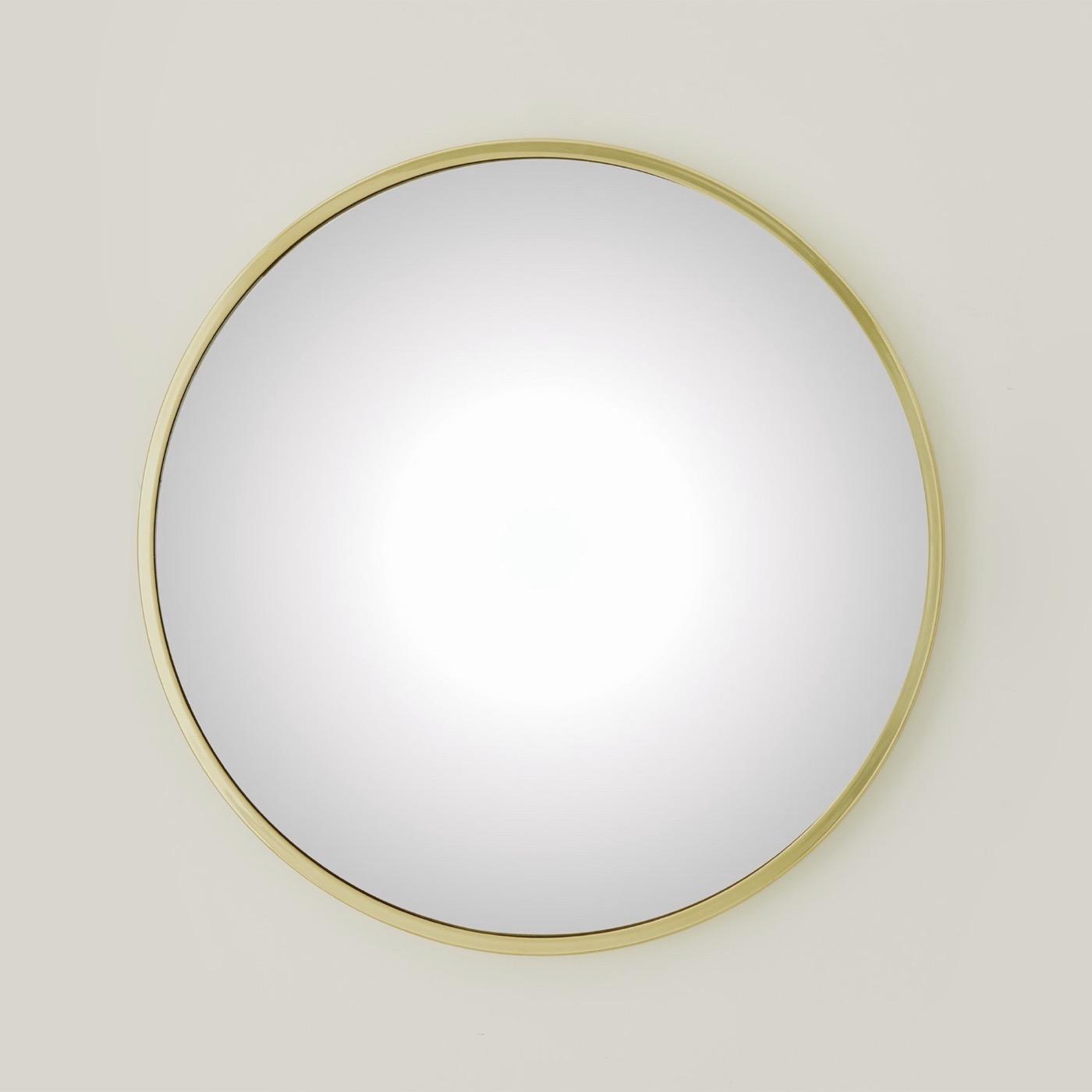 Lamar Convex Mirrors | Brass