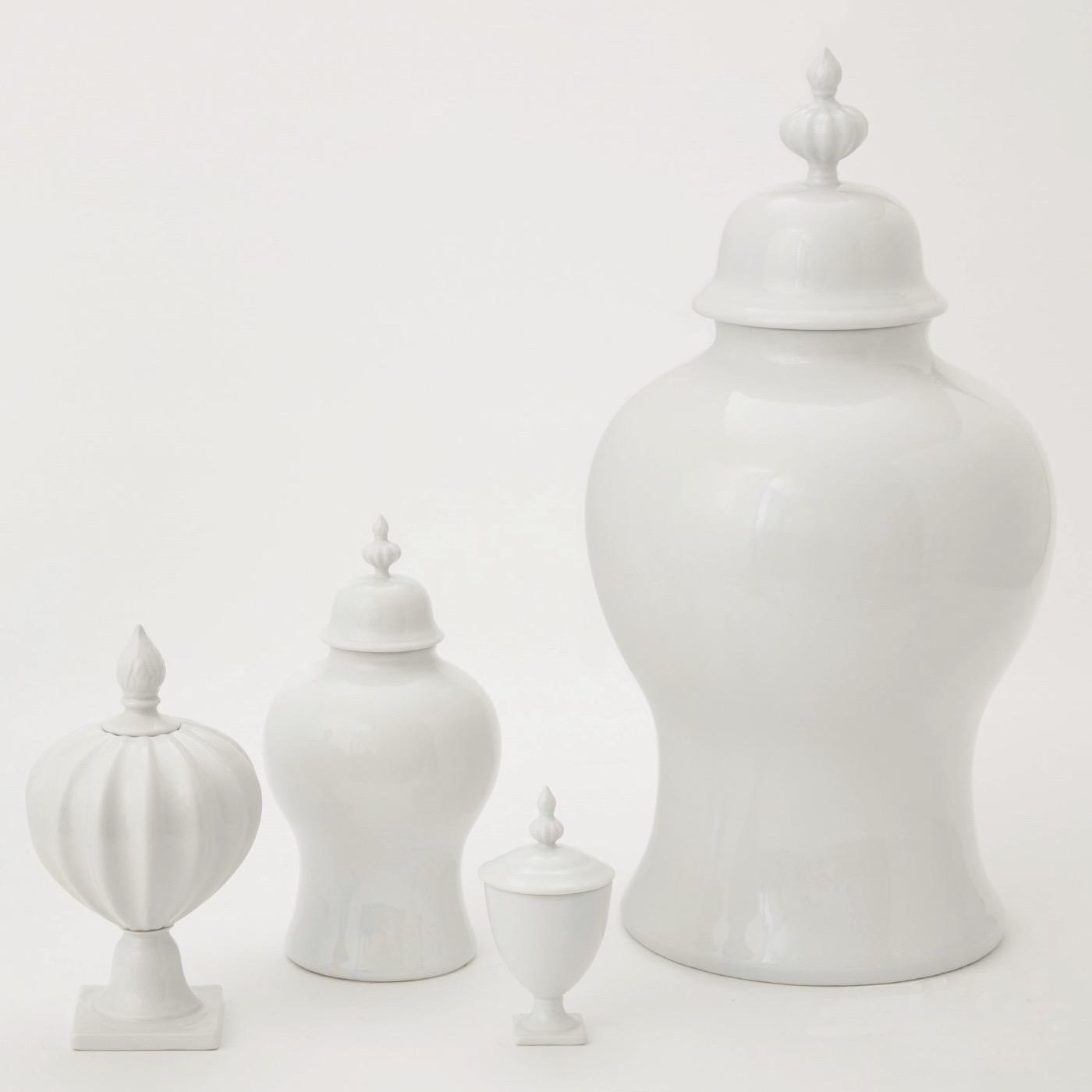 Clyde Ceramic Jar | White
