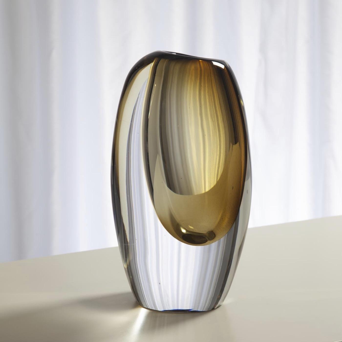 Maya Glass Vases   Amber
