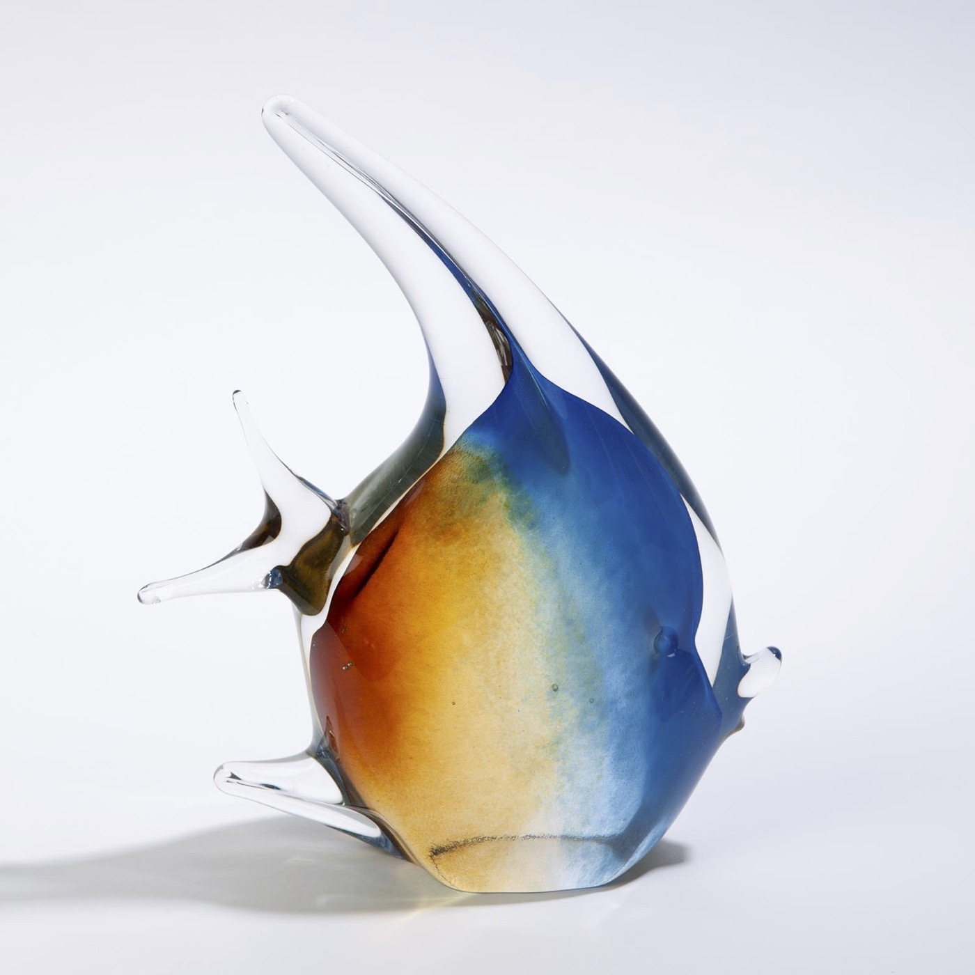 Caspian Glass Fish Sculptures | Amber & Blue