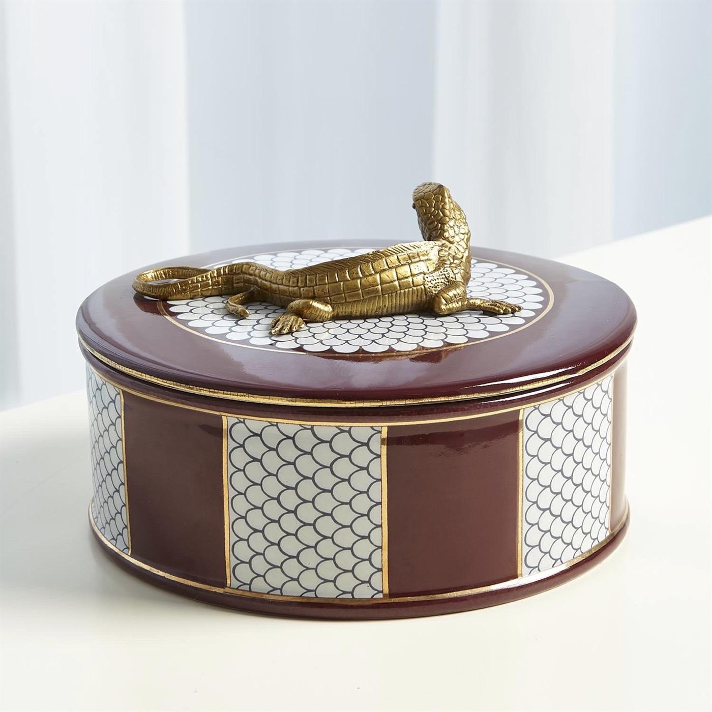 Reptilla Round Box