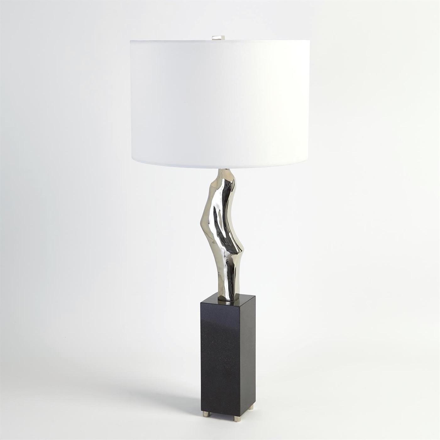 Hawn Conceptual Table Lamp   Nickel