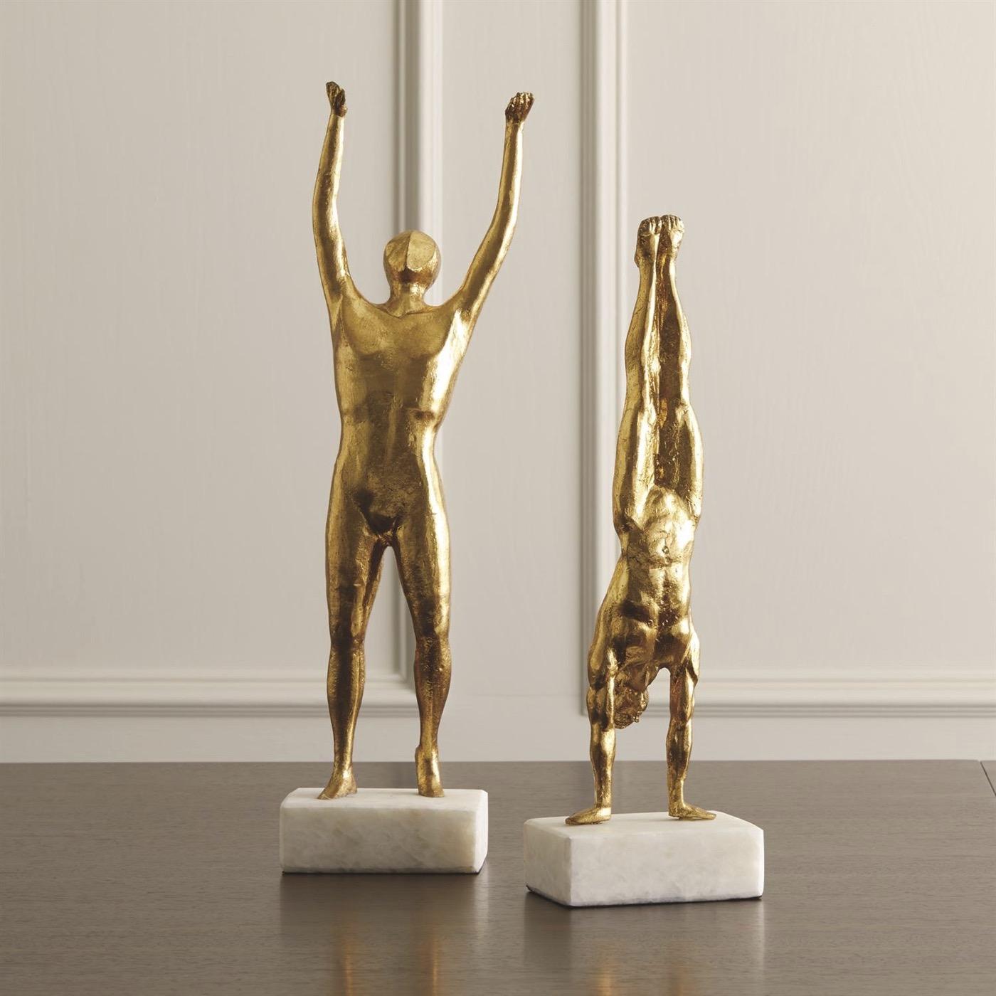 Stanley Iron Sculpture | Bright Gold