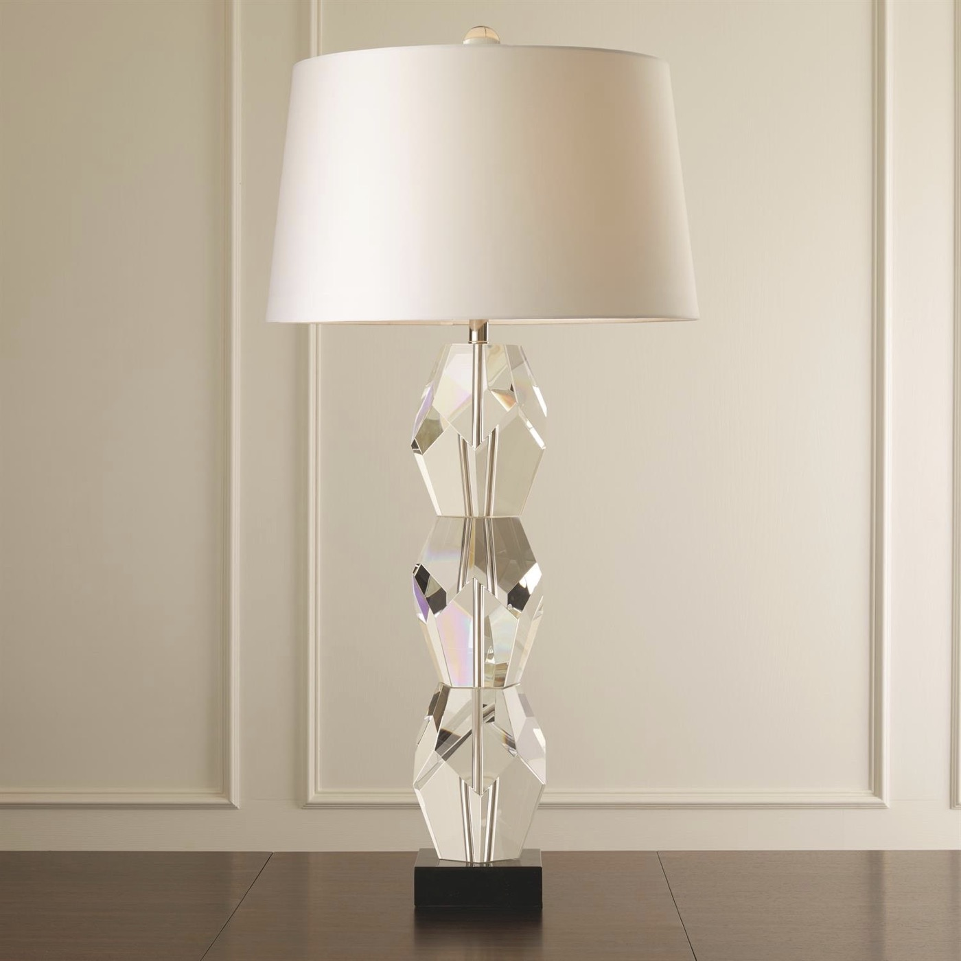 Francois Faceted Crystal Lamps