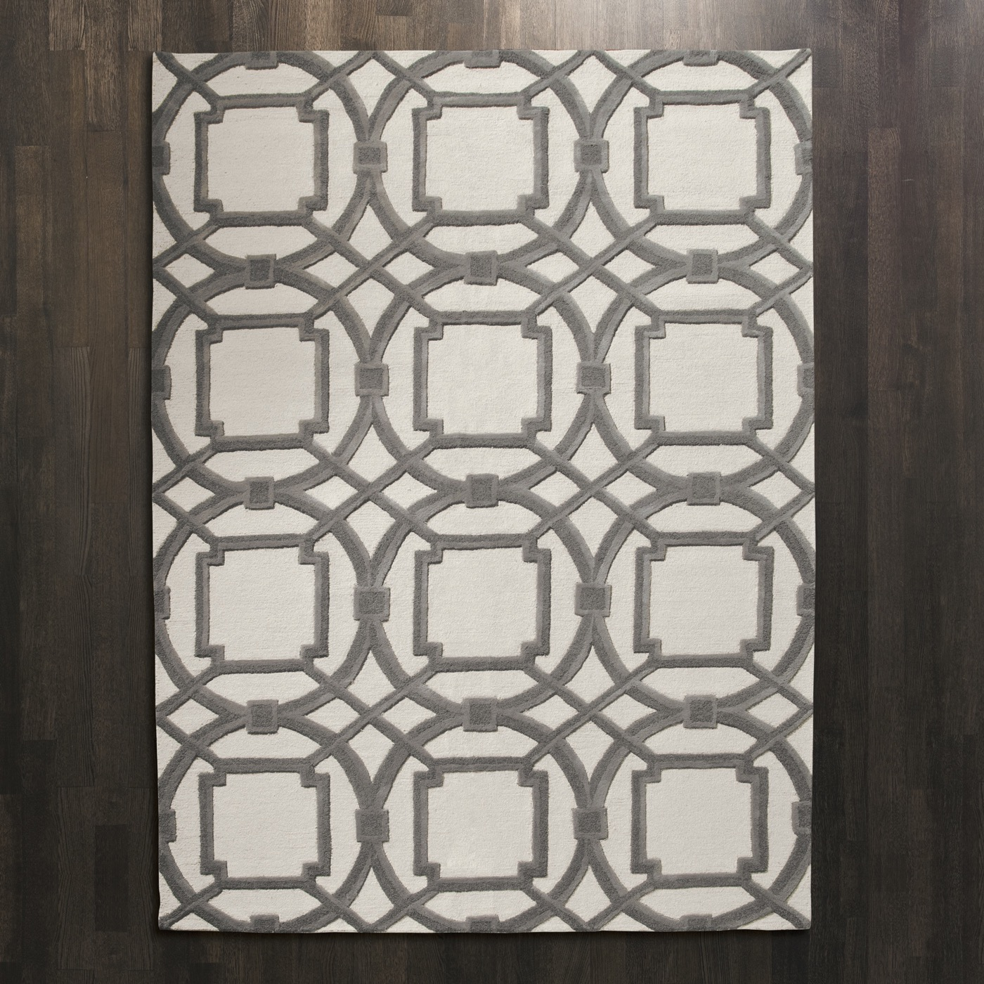 Moresque Wool Rugs | Grey