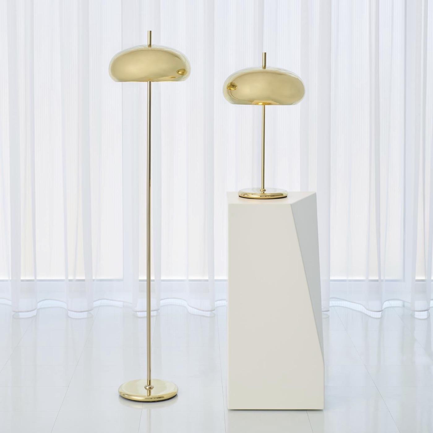 Banks Table Lamp | Brass