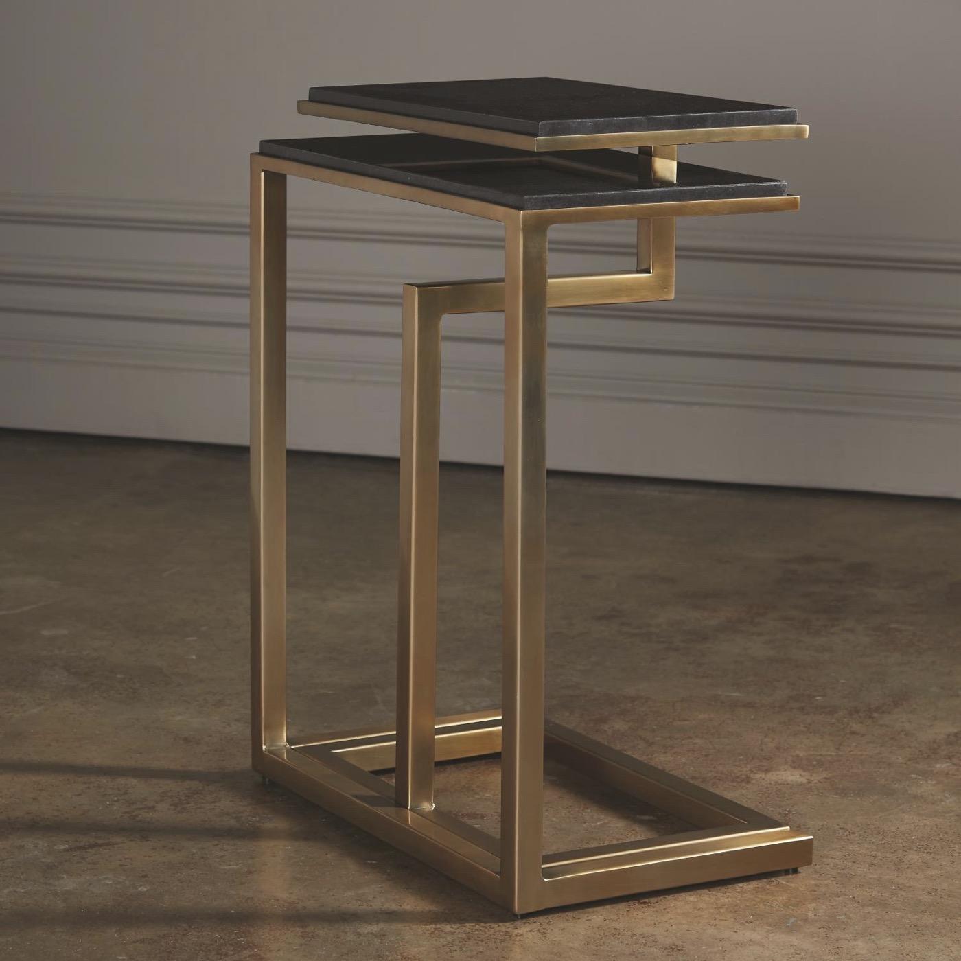 Covet Marble Nesting Tables | Brass