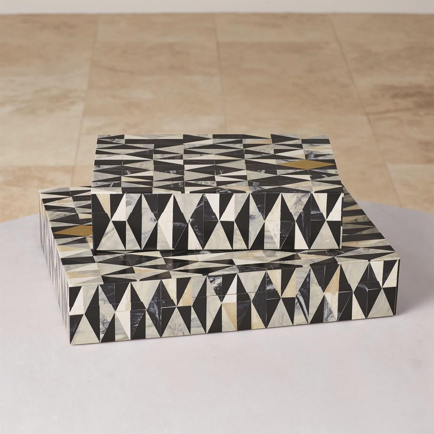 Saldo Geometric Patterned Boxes
