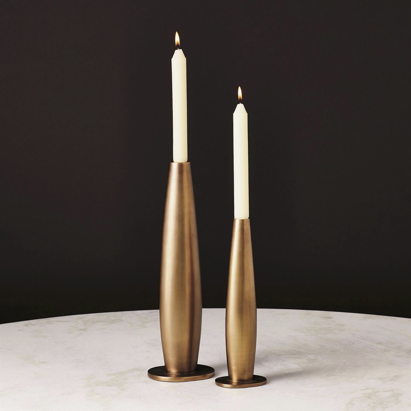 Camille Candlesticks   Pale Bronze