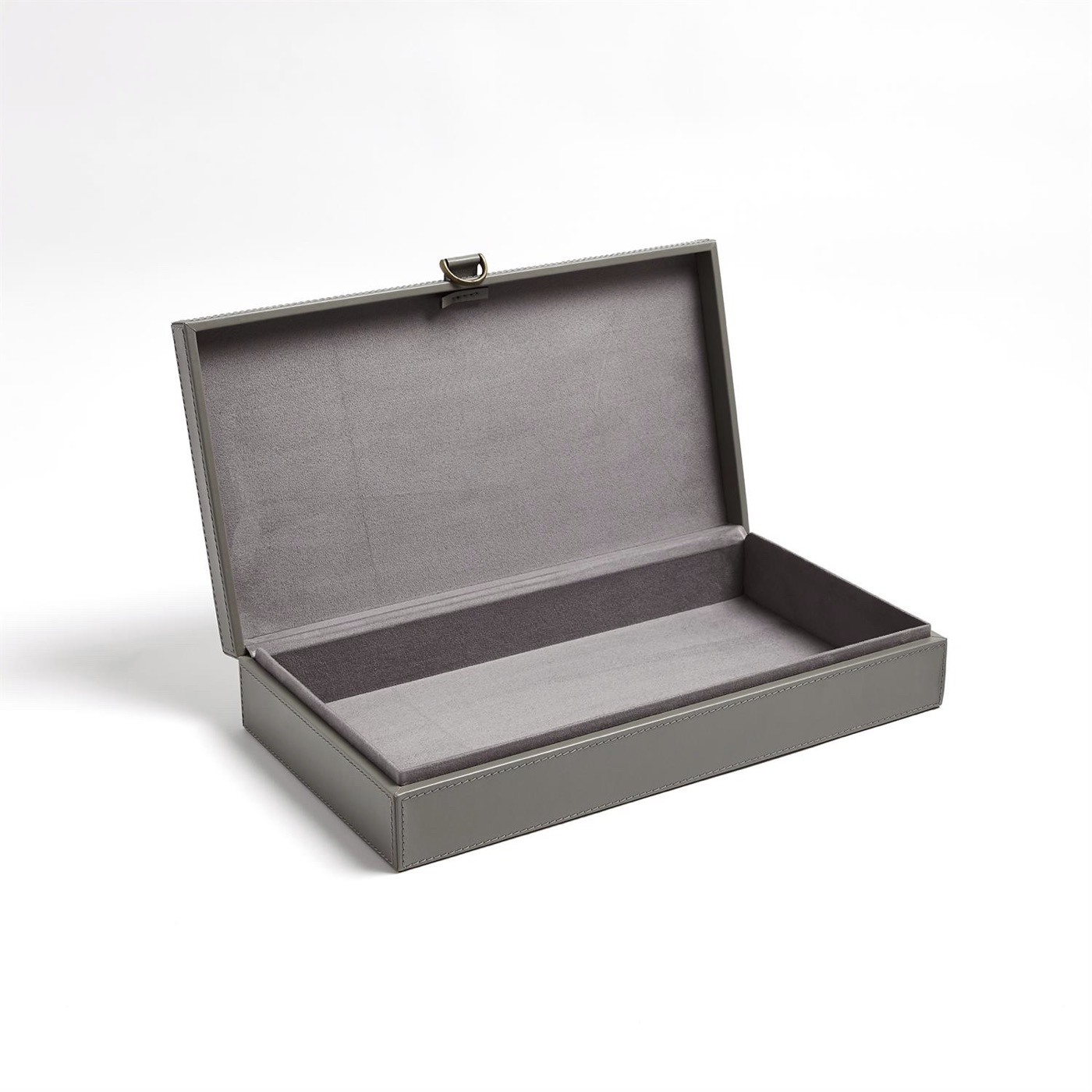 Colton Leather Boxes | Grey