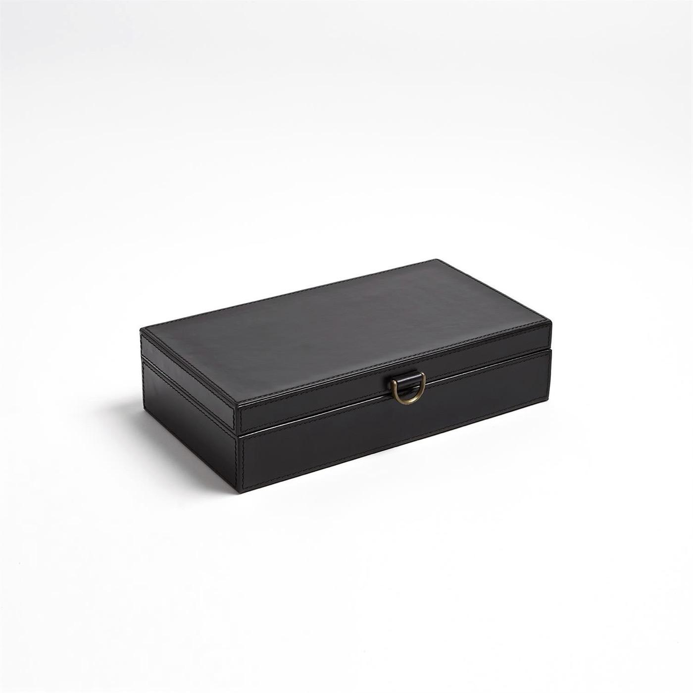 Colton Leather Boxes | Black