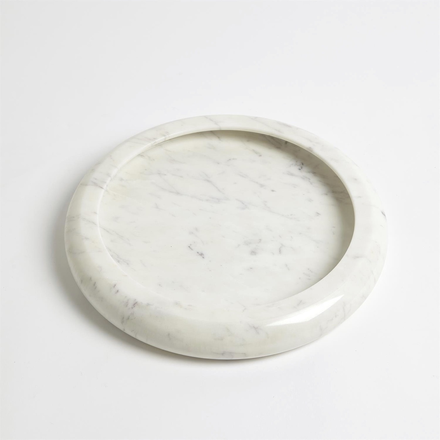 Rhoda Round Marble Trays | White