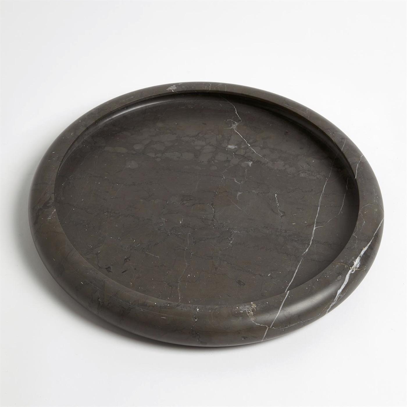 Rhoda Round Marble Trays | Black