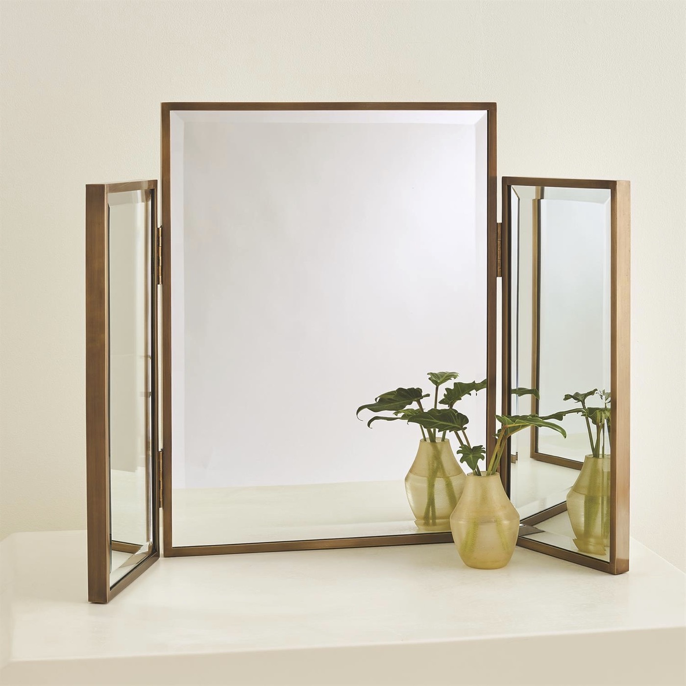 Alfie Vanity Mirror | Antique Brass