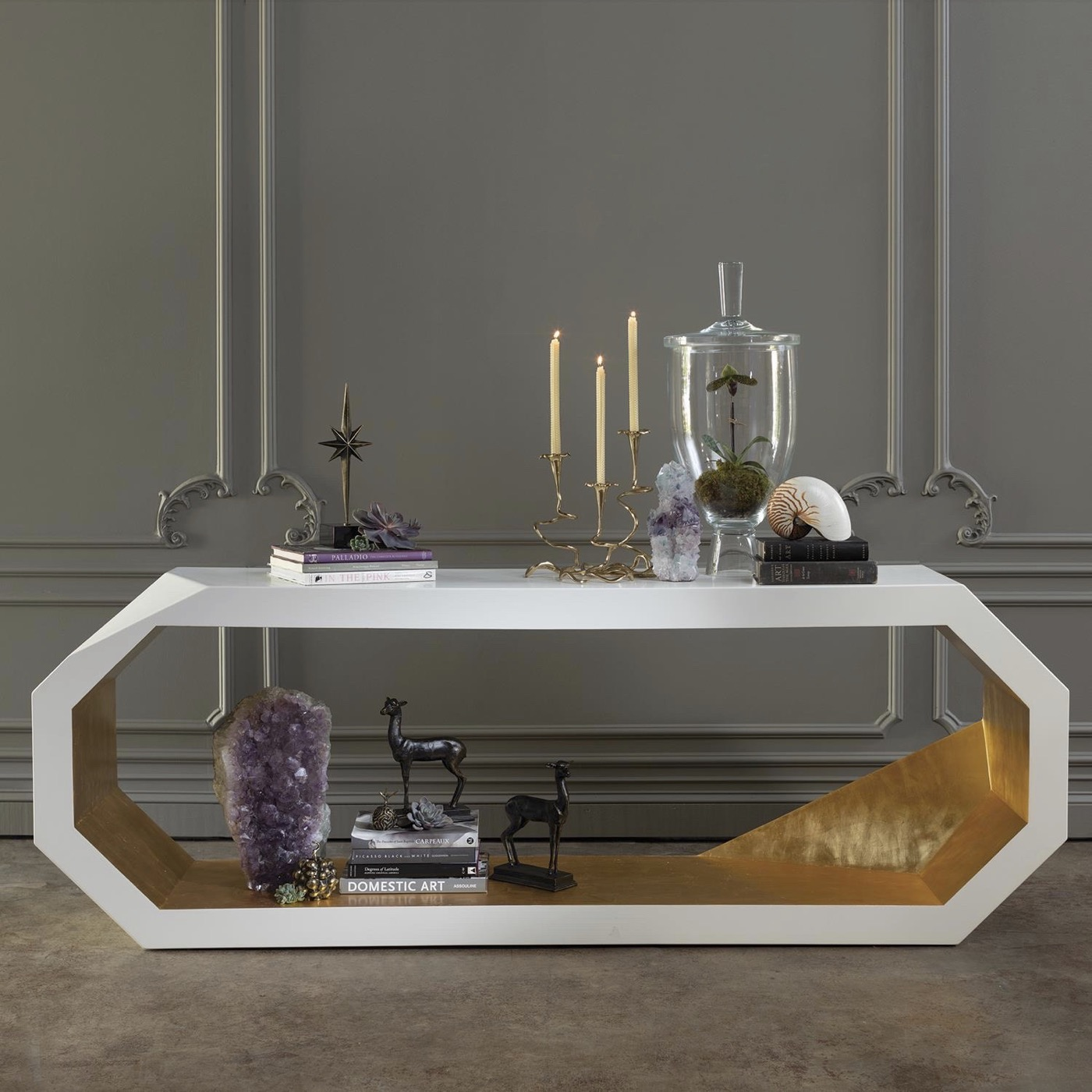 Zane Faceted Console Table