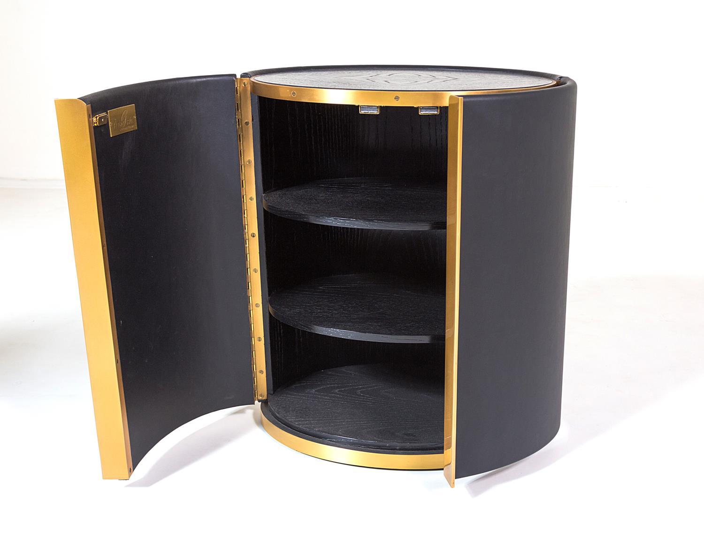 Royce Cabinet Side Table | Black