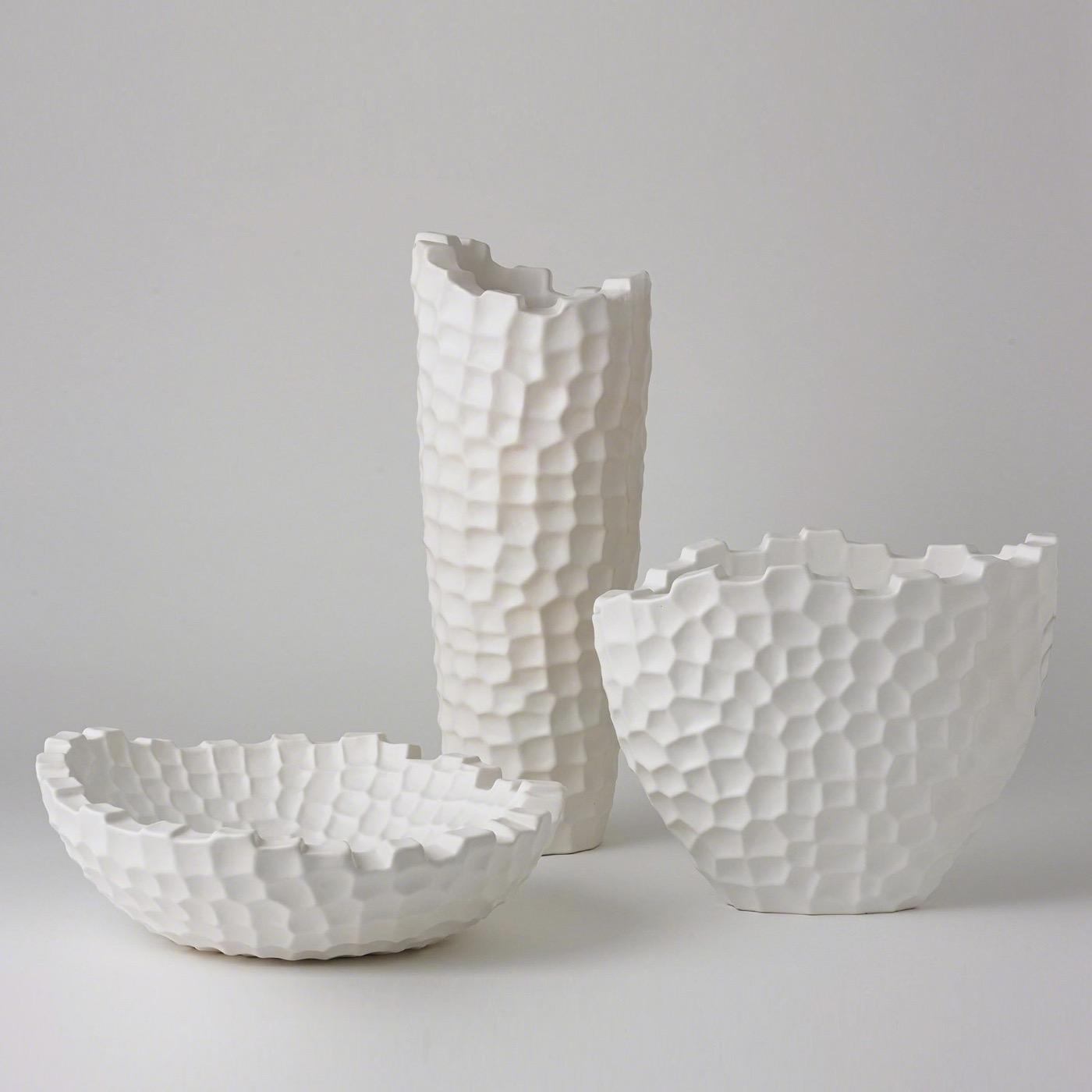 Turing Grid Vases | White