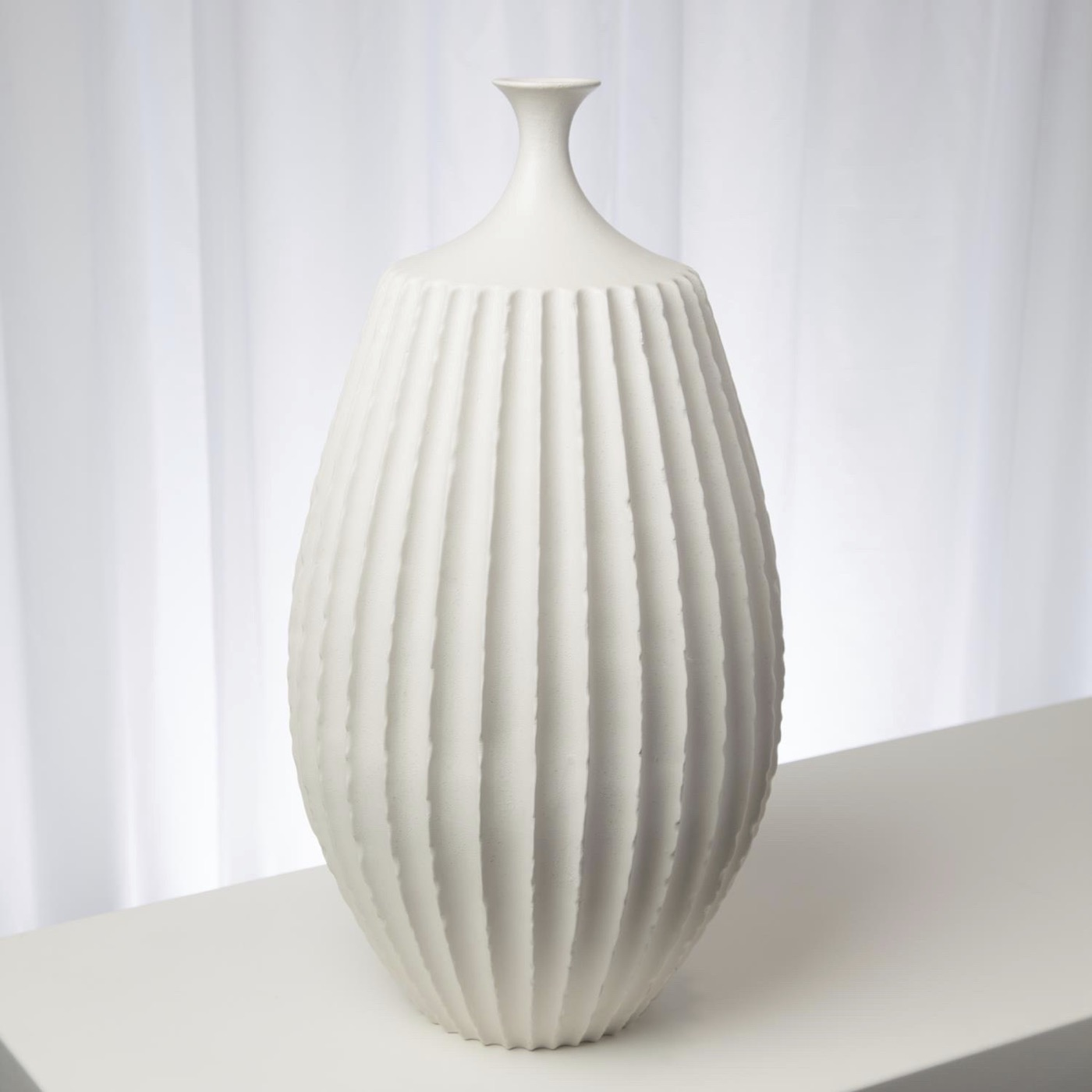 Grillo Ceramic Vases | White