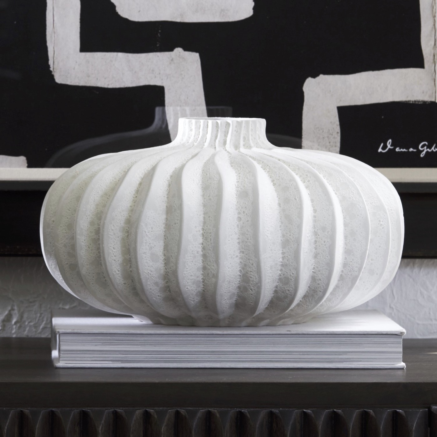 Lorro Ceramic Vases | White