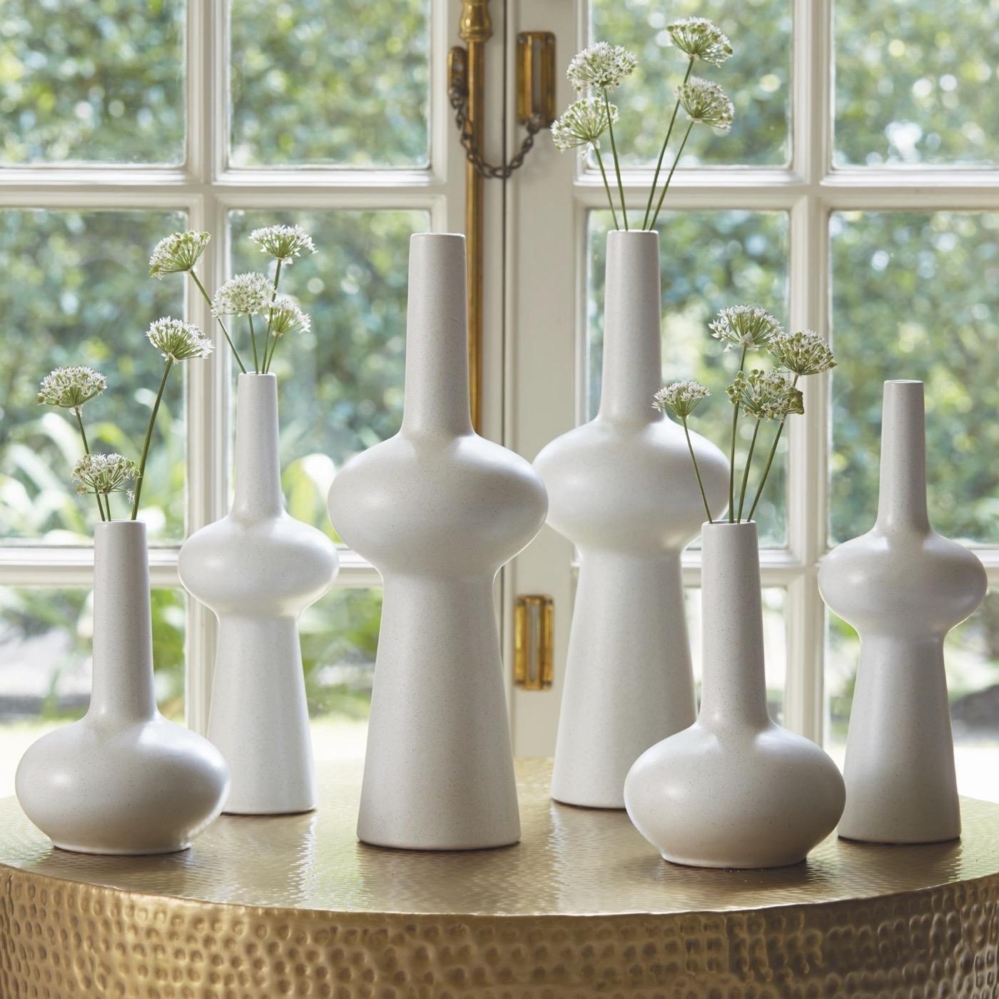 Lorene Ceramic Vases | White