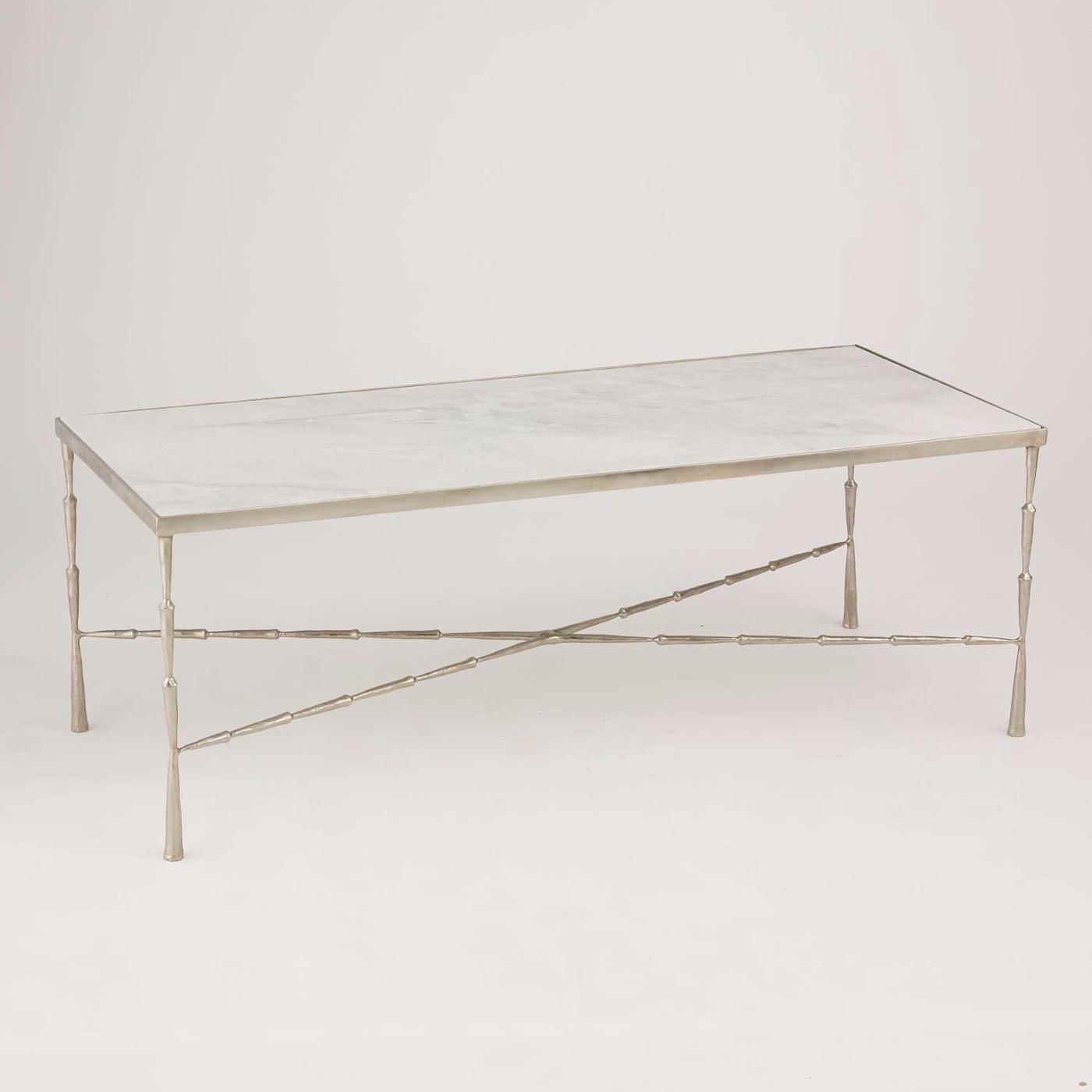 Jahari Marble Coffee Table | Nickel