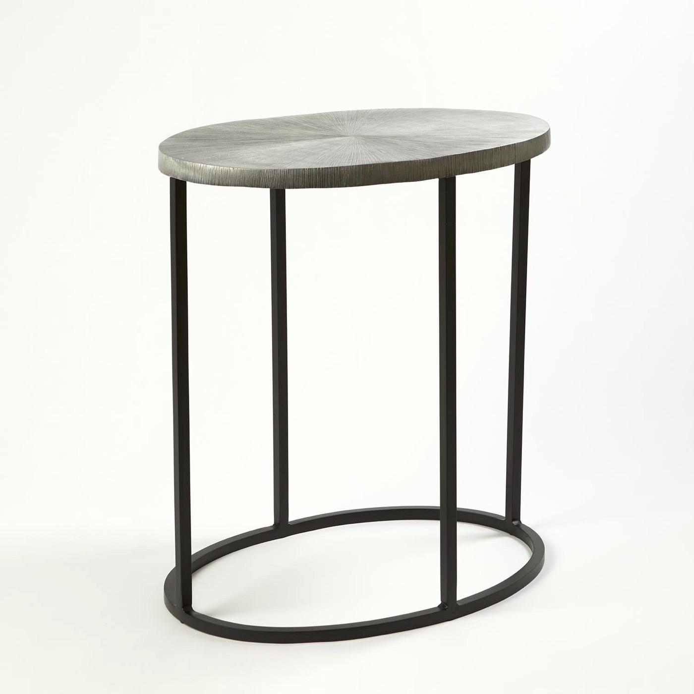 Novano Side Tables | Nickel