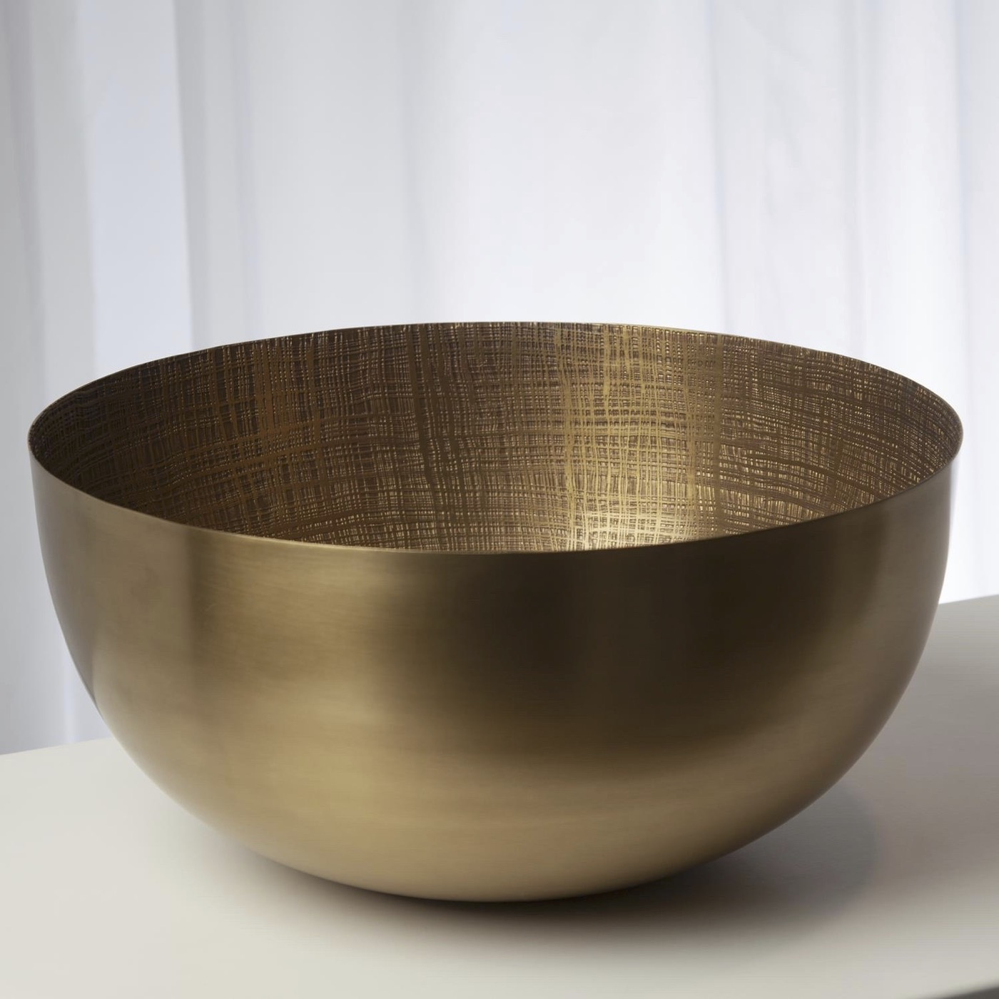 Bryson Grid Bowl | Antique Brass