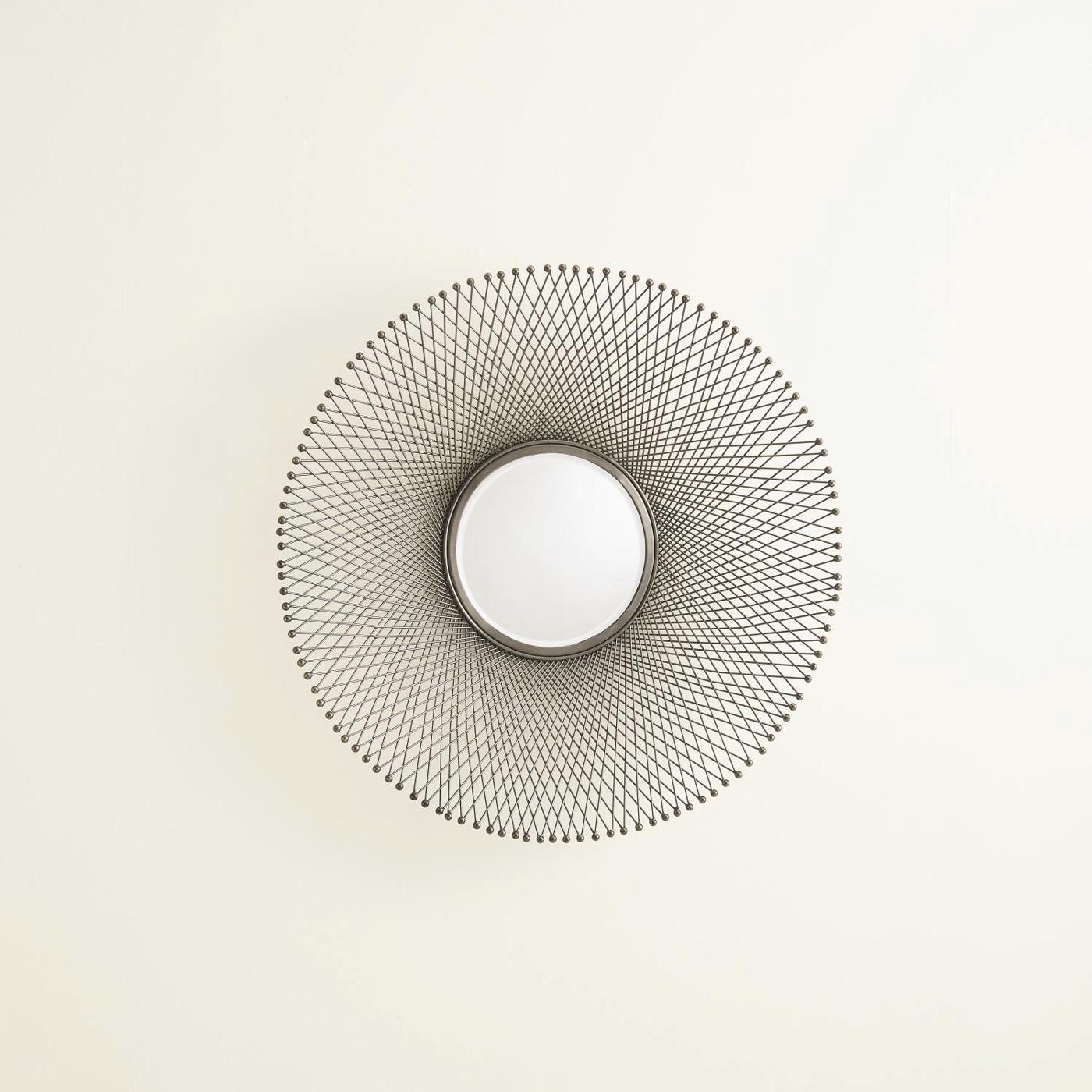 Spiro Wall Mirrors | Dark Nickel