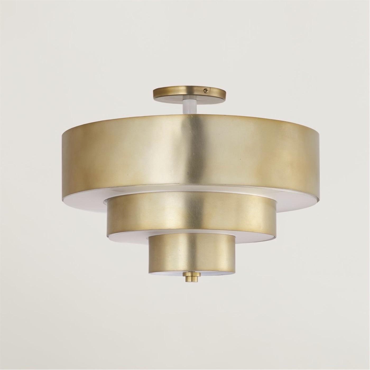 Wynette Brass Flush Mount