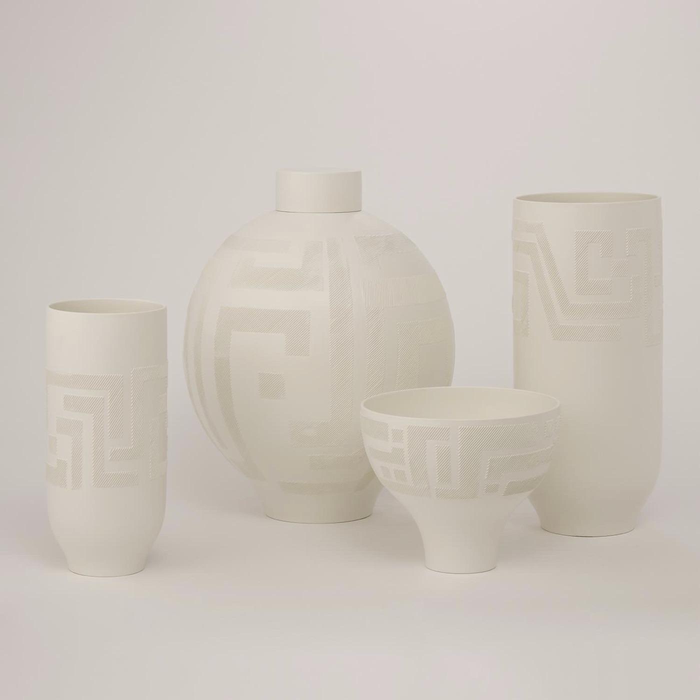 Grisela Ceramic Vases | White