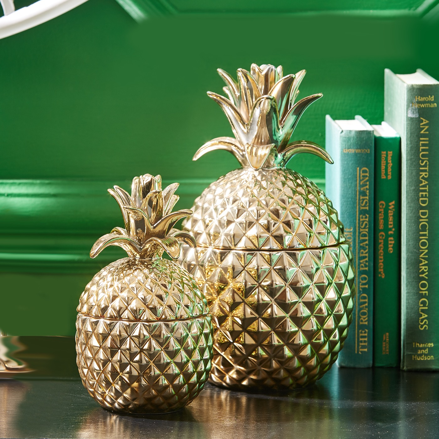 Colada Pineapple Jars Set | Gold