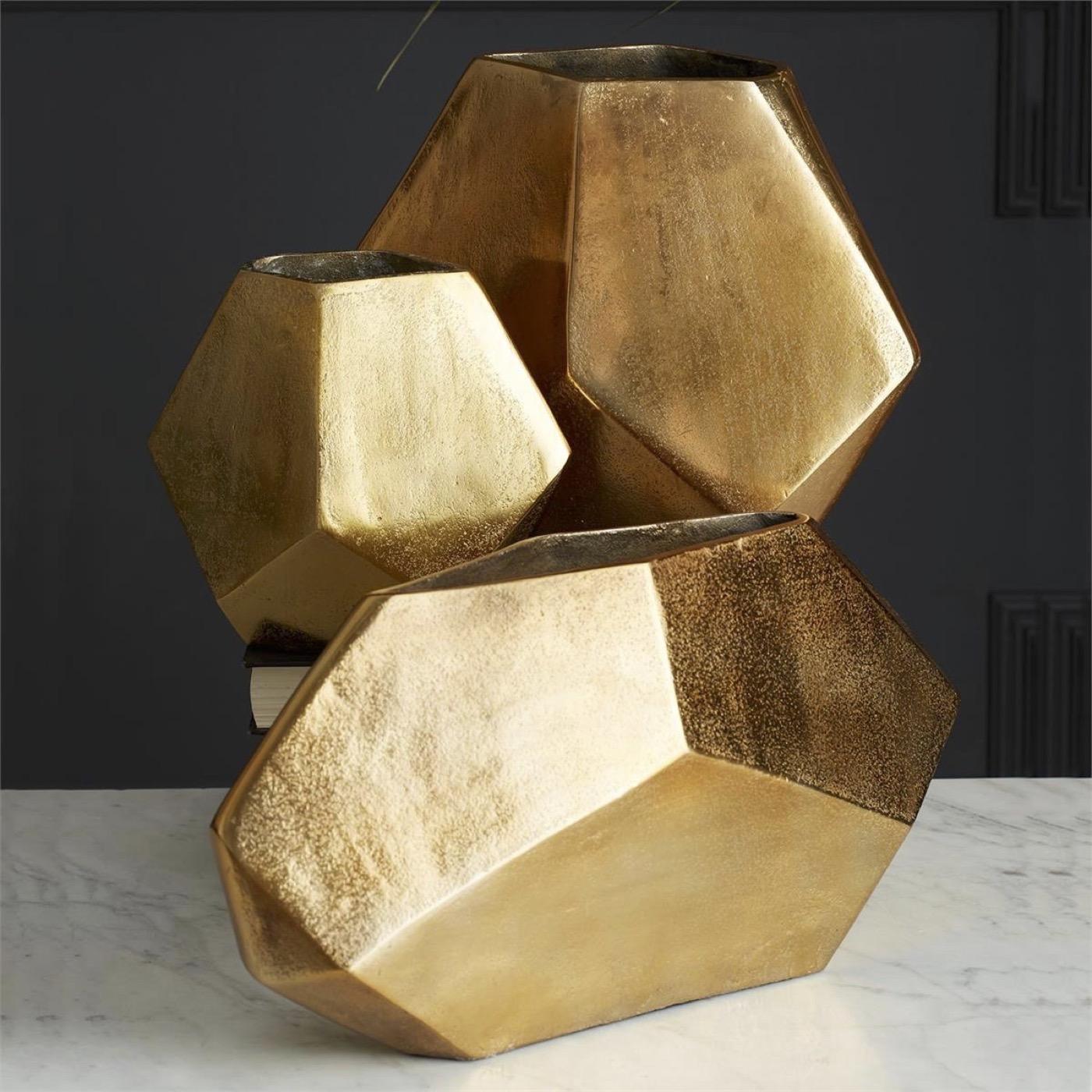 Nigel Gold Vases Set