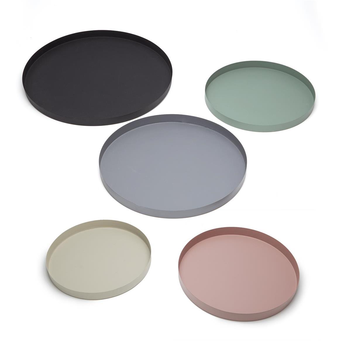 Mona Round Metal Trays Set
