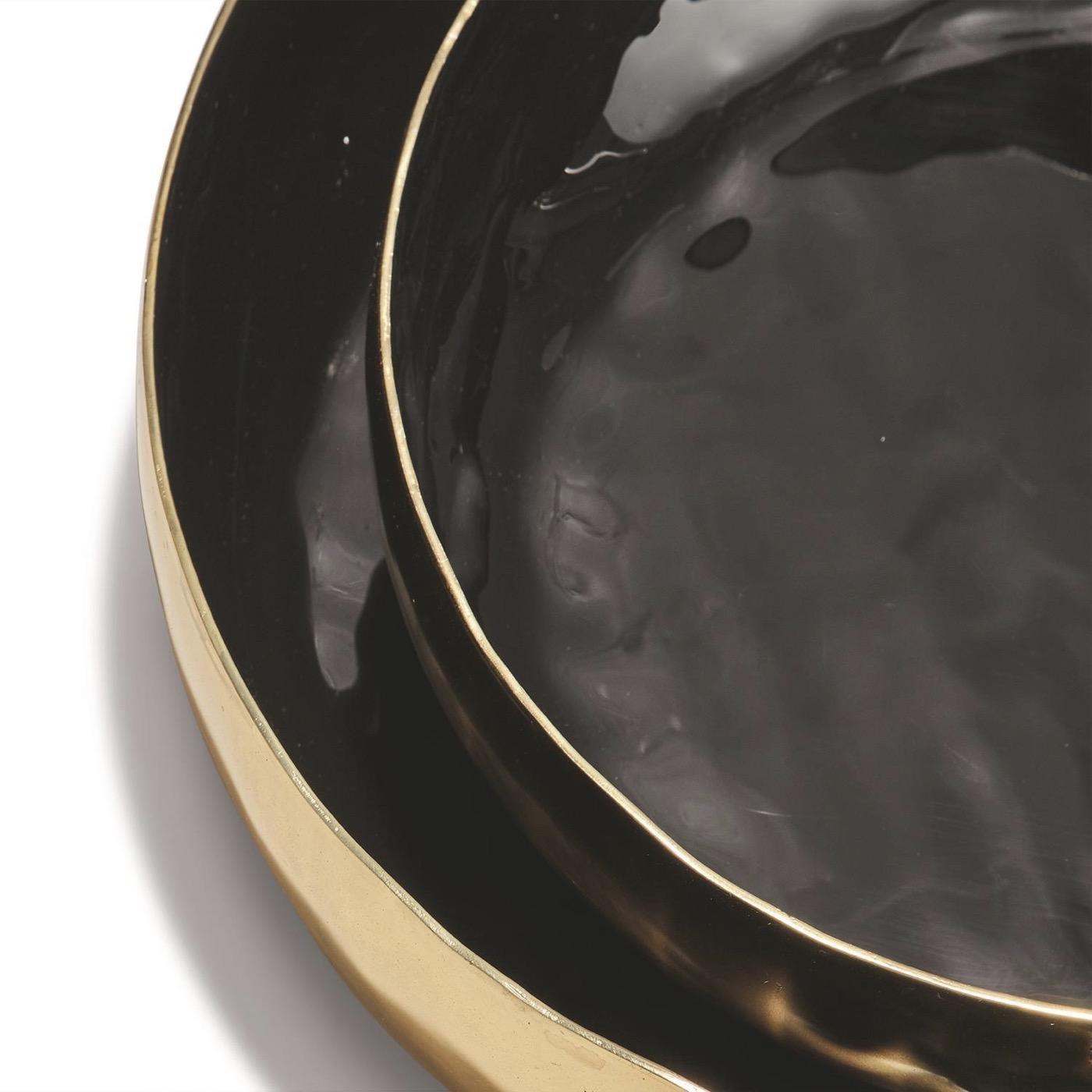Gigi Round Trays Set | Black