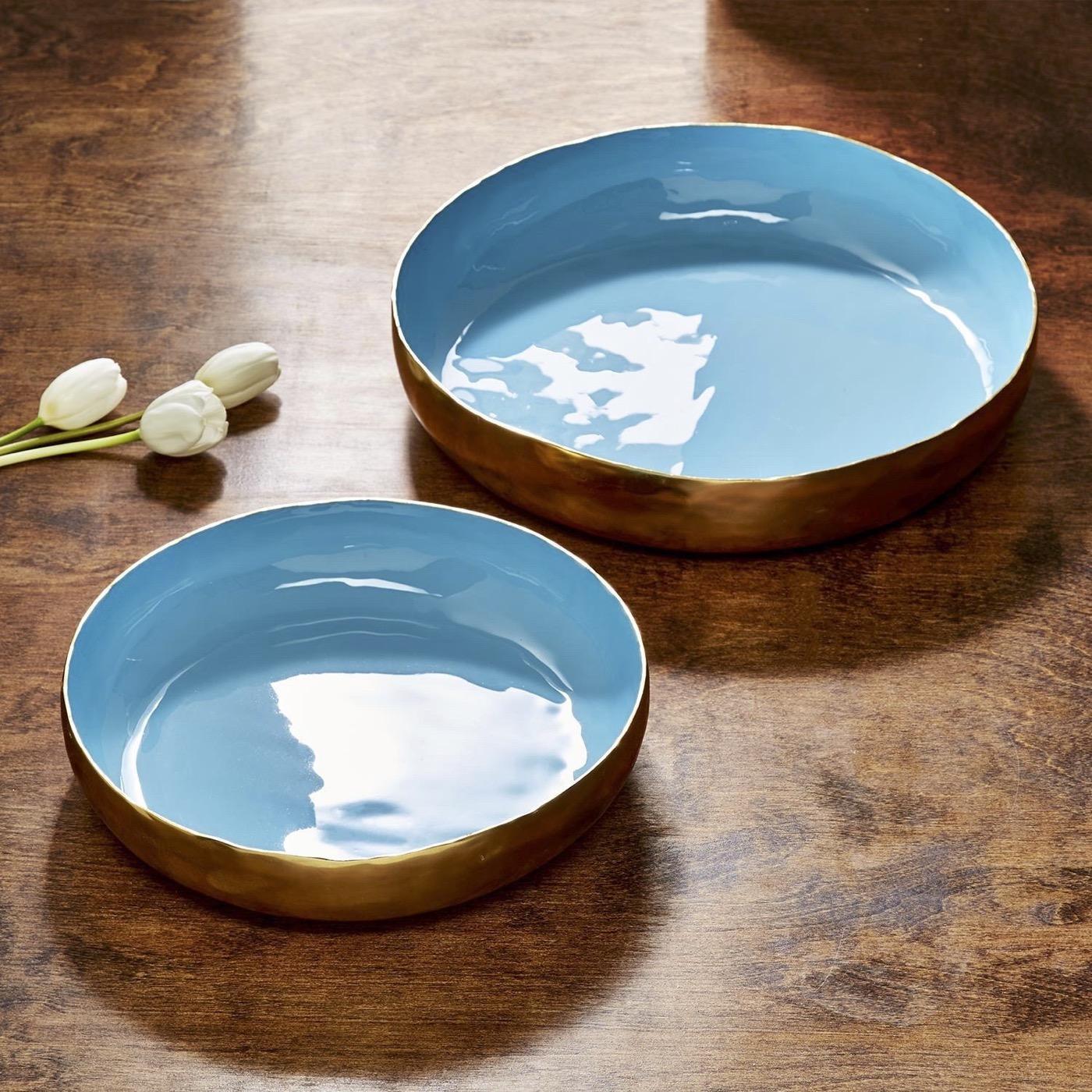 Gigi Round Trays Set | Turquoise