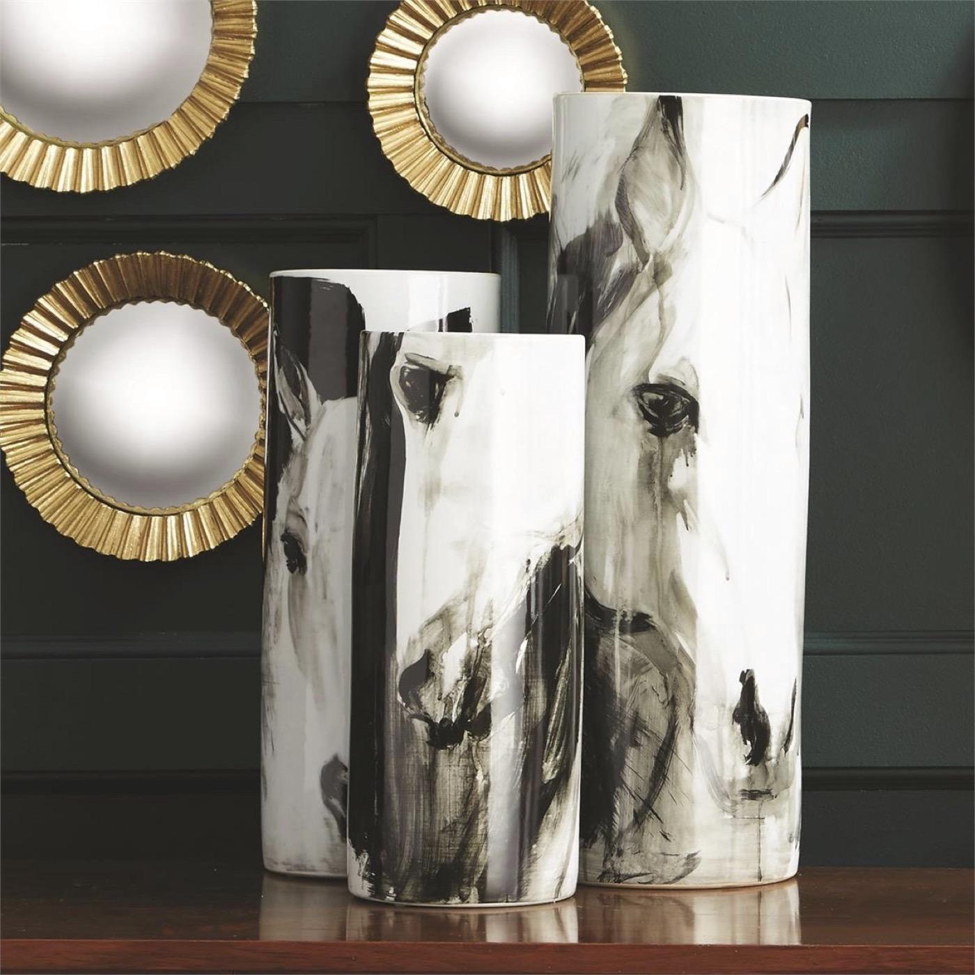 Stampede Porcelain Vases Set