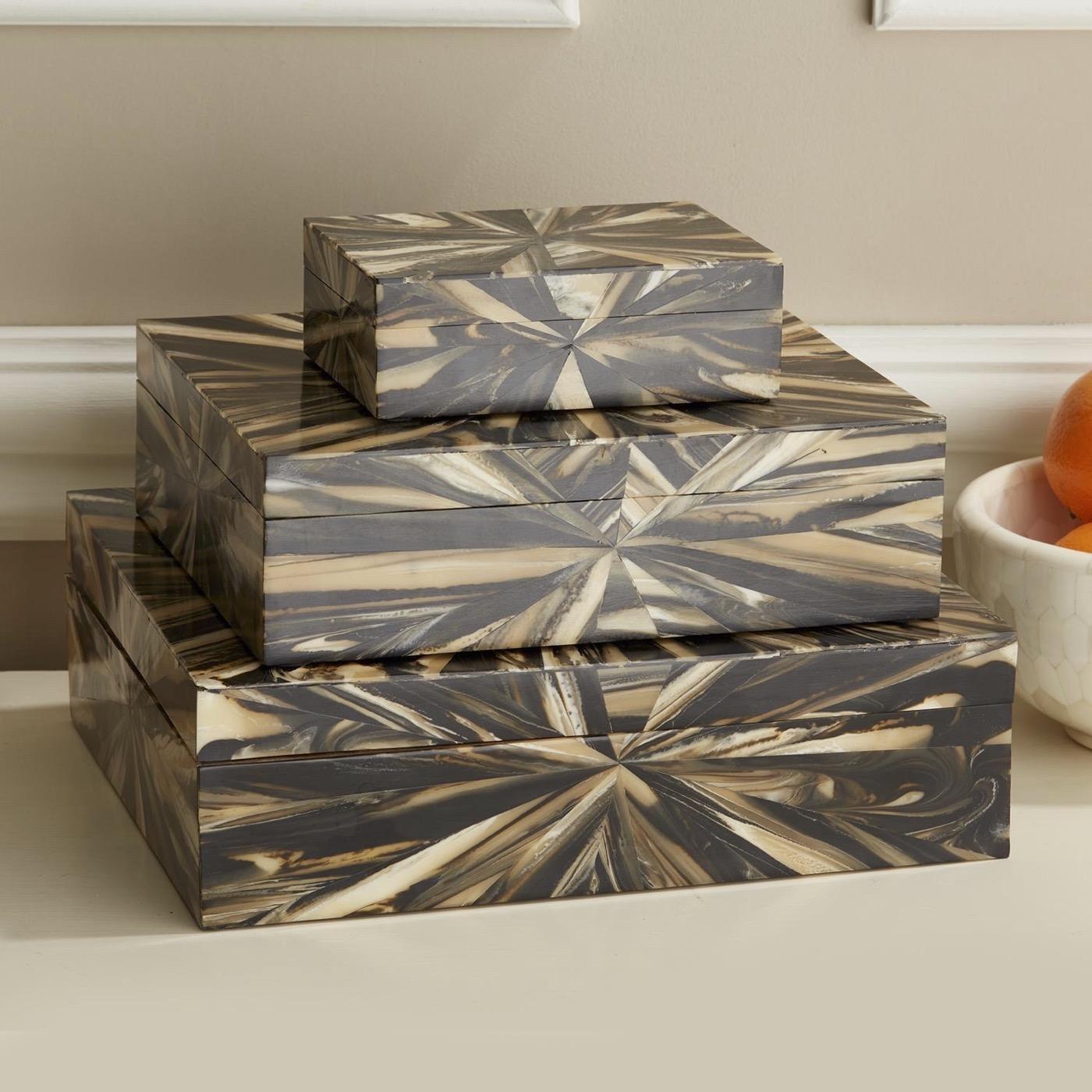 "Philo ""Petrified Wood"" Boxes Set"
