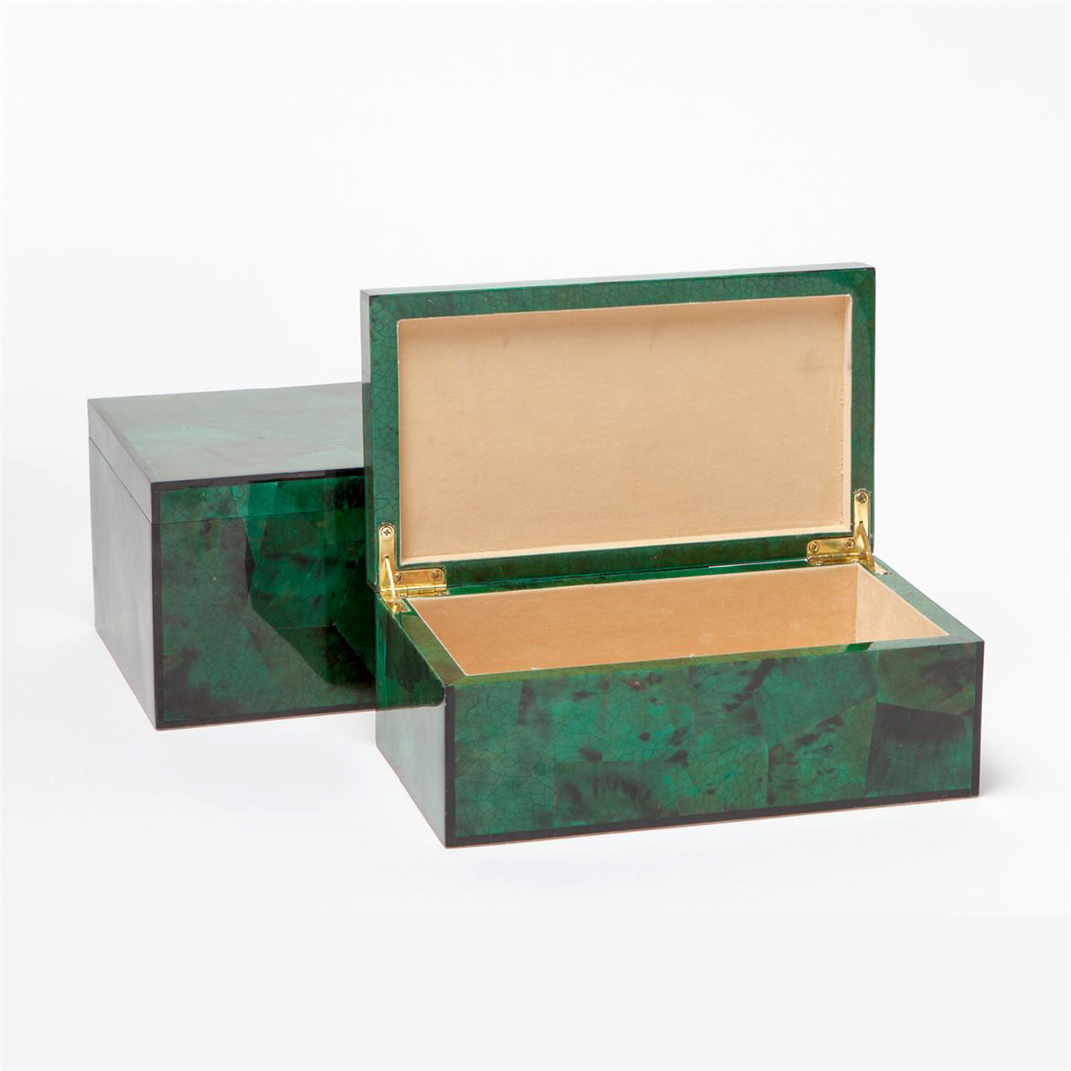Foster Shell Boxes Set | Emerald