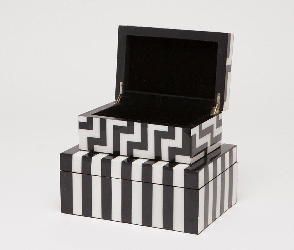 Cornelis Patterned Marble Boxes Set