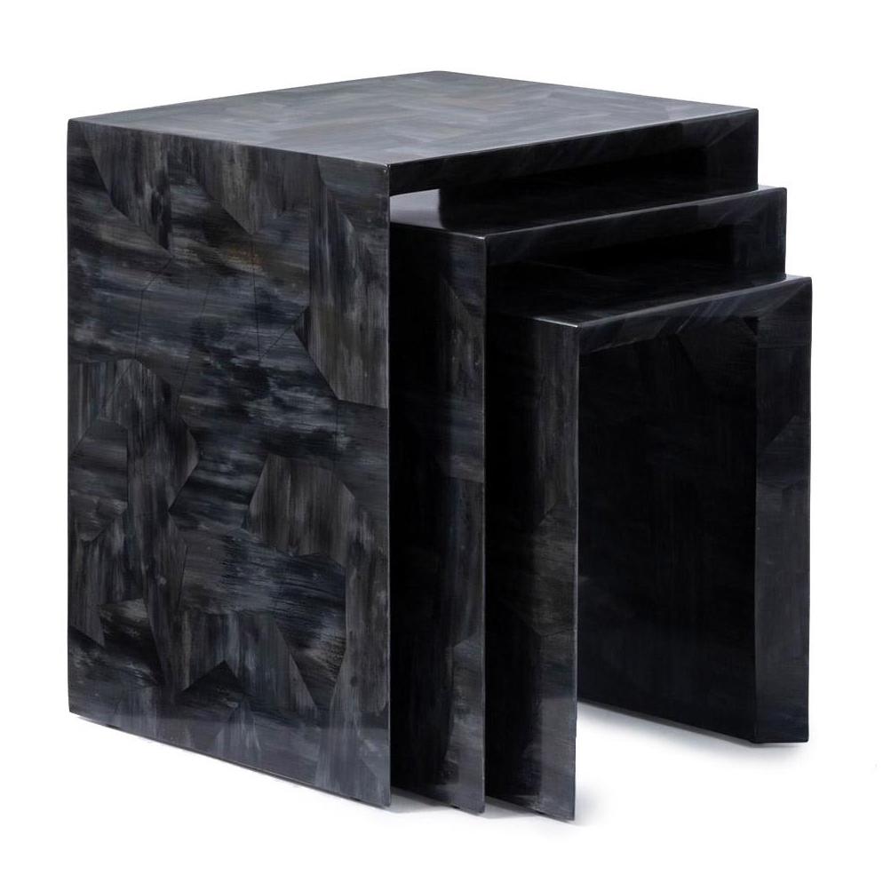 "Robertson ""Horn"" Nesting Tables   Dark Grey"