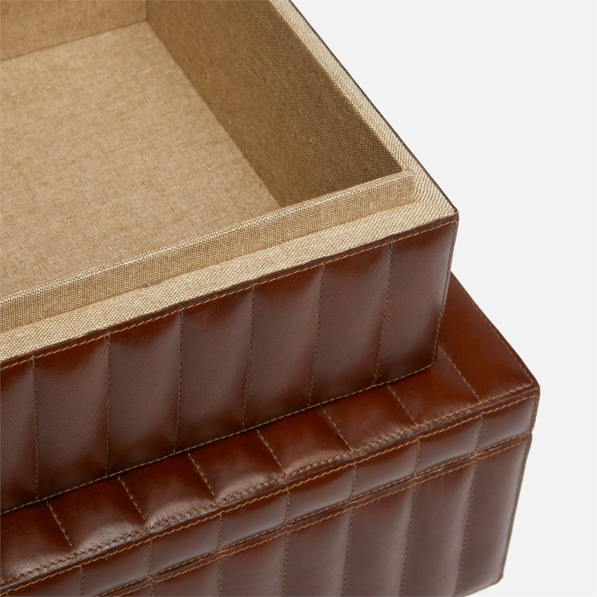 Holice Quilted Leather Boxes Set