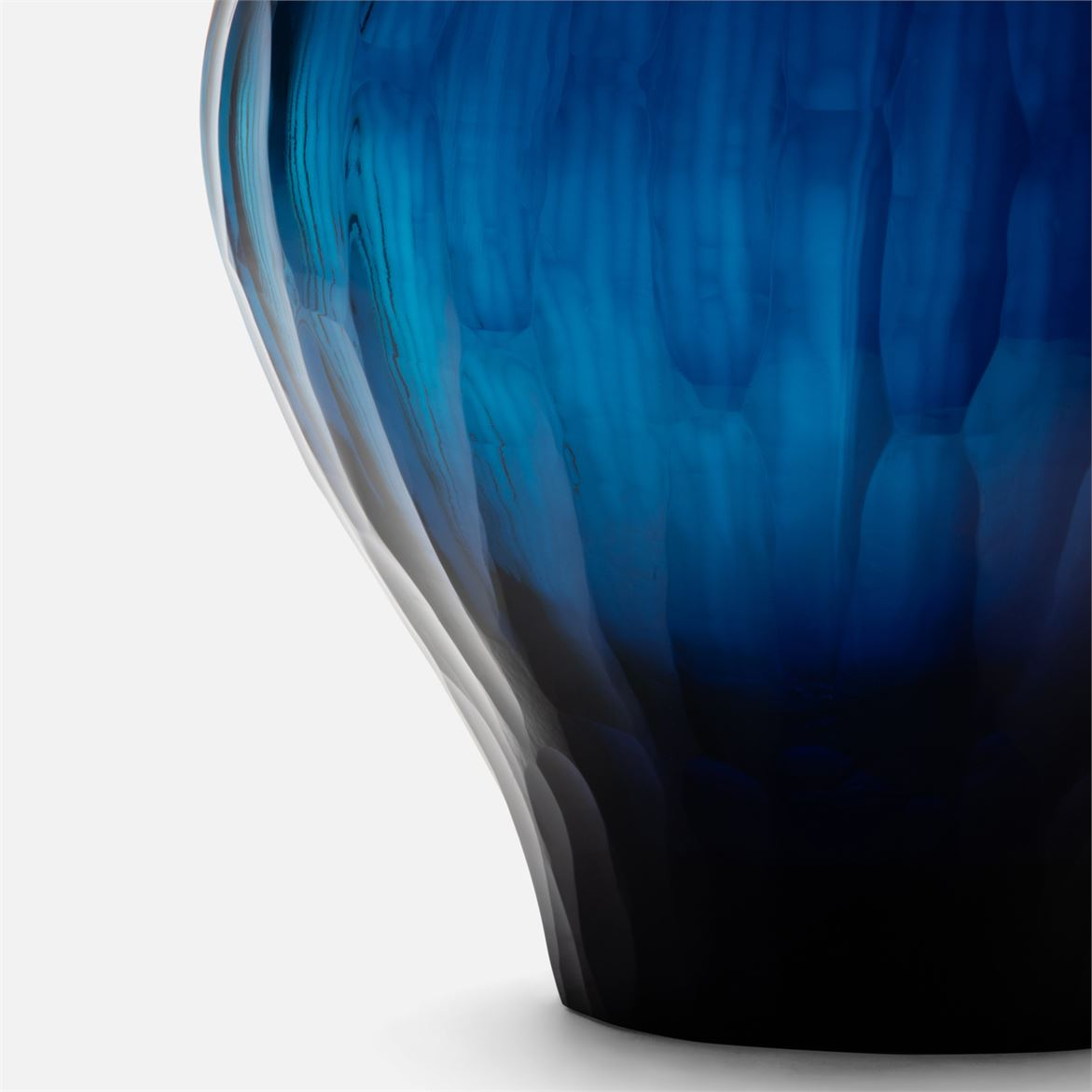 Fandozzi Art Glass Vases | Blue