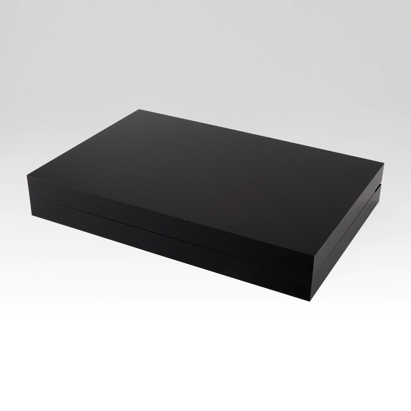 Luigi Lucite Backgammon Set | Black